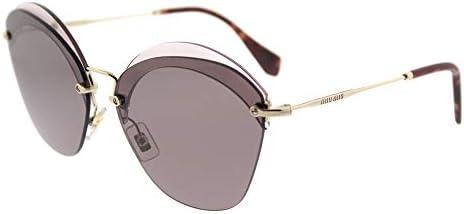 Miu Miu MU53SS VX36X1 Red MU53SS Oval Sunglasses Lens Category 3 Size 63mm product image