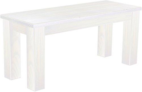 Brasilmöbel Sitzbank 100 cm Rio Classico Pinie Weiss Pinie Massivholz Esszimmerbank Küchenbank Holzbank - Größe und Farbe wählbar