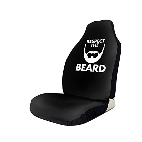 AEMAPE Respect The Beard Fundas de Asiento de Coche Protector de Asiento Universal Apto para Auto Truck SUV