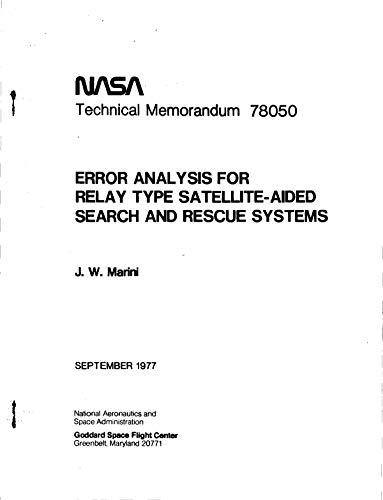 Error analysis for relay type satellite-aided search and rescue systems (English Edition)