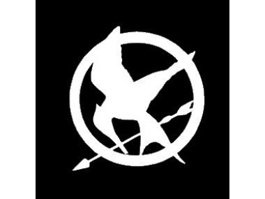 SoCool - Mocking Jay - Hunger Games Symbol - Vinyl 4' wide (Color: WHITE) decal laptop tablet skateboard car windows stickers