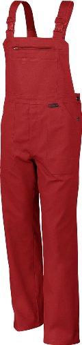 Qualitex Arbeits-Latzhose BW 270 - Größe: 48 - rot