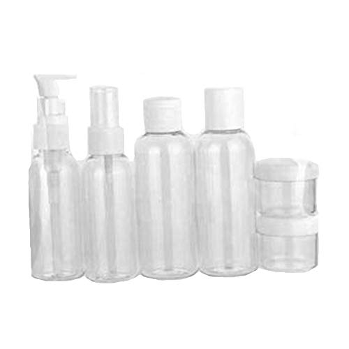 Beeria Travel Bottles Set Toiletries Liquid Dispensing Tubes Containers Set BPA Free Refillable Leakproof for Liquid Cream Shampoo Perfume, Cosmetic Make-up