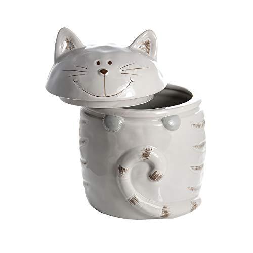 Keramik Vorratsdose mit Deckel, Küche Aufbewahrungsbehälter Katze Motiv - Geschenk für Katzenliebhaber Katzenfreunde
