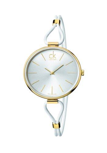 Calvin Klein Reloj Analógico para Mujer de Cuarzo con Correa en Acero Inoxidable K3V235L6
