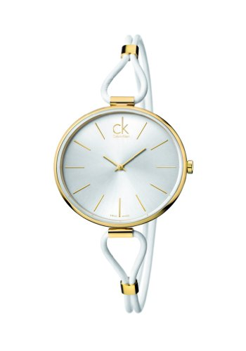 Calvin Klein Damen Analog Quarz Uhr mit Edelstahl Armband K3V235L6
