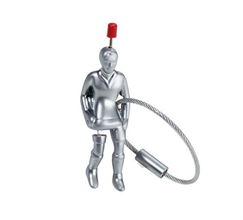 TROIKA TIPP-Kick – KR17-86/MA – Schlüsselanhänger – TIPP Kick Spieler – Figur – Edwin Mieg – Fußball – Metallguss– matt – verchromt – Silber Original