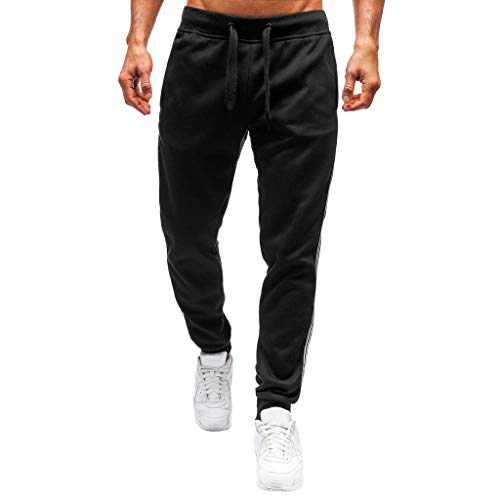 Zarupeng heren fitness joggingbroek cargo broek casual sport workout broek 2 strepen lopen trainings-sportbroek casual broek casual broek