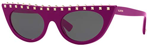 Valentino 0VA4018 501787 50 Gafas de sol, Rosa (Fuxia/Dark Smoke), Mujer