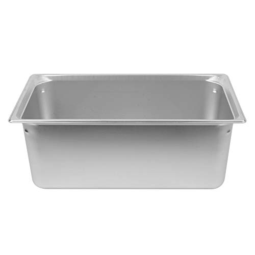 TableTop King 90082 Super Pan 3 Full Size Anti-Jam Stainless Steel Steam Table/Hotel Pan - 8' Deep