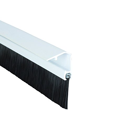 Stormguard 02SR0720838W Bottom of The Door Brush Strip Draught excluder 838mm (2 9 ) White with Cover to CONSEAL Screws, 838 mm