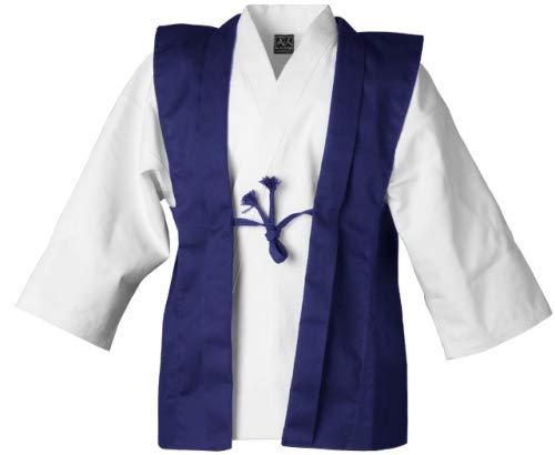 Kendo Kampfsport Bu Jin Design® Jin-Baori | Trainingsanzug in blau | Für Wettkampf und Training | aus Fester Baumwolle | Europa Fertigung Größe L