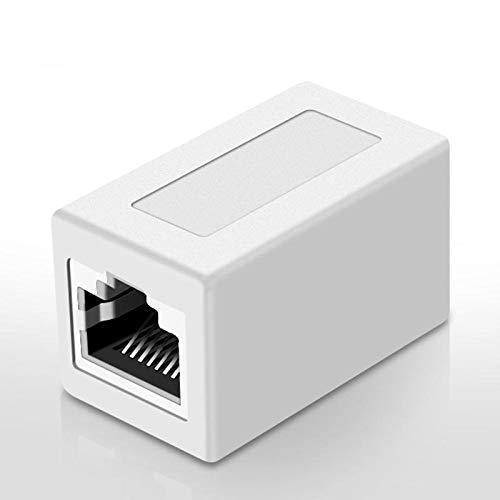 Cables y herramientas de red Cable Ethernet para el conector RJ45 femenino a la hembra para el adaptador CAT7 / 6 / 5E Ethernet para el cable de extensión de la red de red 8P8C para el convertidor de