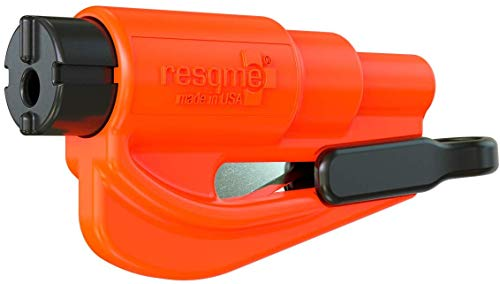 resqme The Original Keychain Car Escape Tool, Made in USA (Orange)