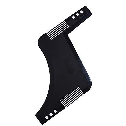 Beito Barba shaping comb 1PC styling template pettine Hair lineup strumento barba stencil guida per Perfect line up e bordatura-lavorare con qualsiasi barba rasoio elettrico trimmer (nero)