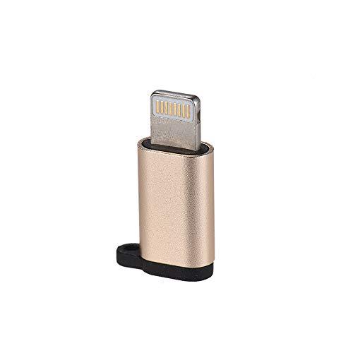 iloving Adaptador de carga micro USB hembra a Lightning macho de sincronización de datos para iPhone iPad Cable de datos