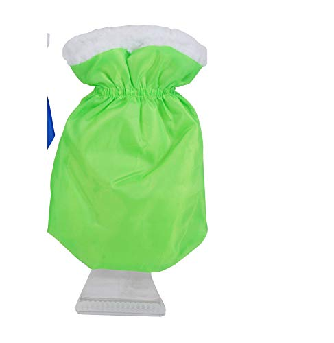 Gant grattoir à glace - Intérieur polaire - Coloris assortis Bleu ou Vert