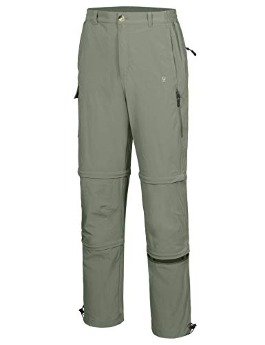 Little Donkey Andy Pantalones convertibles elásticos para hombre, con cremallera, de secado rápido, protección UV, ligera, talla XL