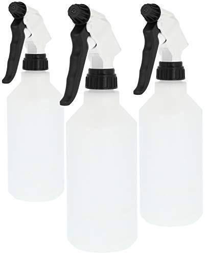 com-four® Botella pulverizadora 3X: pulverizador de Bomba Resistente a Productos químicos con Rosca 28/400 para fluidos hidráulicos a Base de glicol, ácidos, solventes Que contienen oxígeno