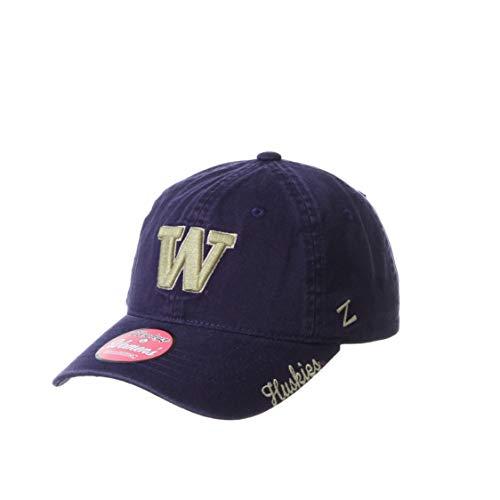 Zephyr NCAA Washington Huskies Womens Adjustable Scholarship Hat Icon Team Color, Washington Huskies Purple, Adjustable