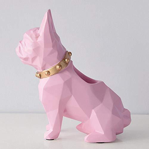 HJMEWW Escultura Figuritas Decorativas Estatuas Estatuilla De Resina para Perro, Soporte para Bolígrafo, Organizador De Escritorio, Accesorios De Oficina, Soporte para Lapicero