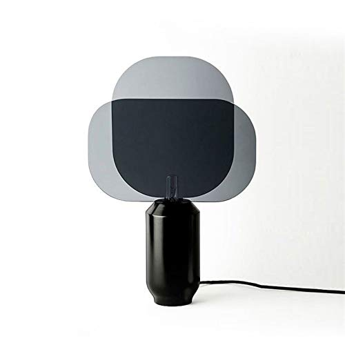 Dltmysh Lámpara de Mesa Dormitorio de Noche Artes Lujoso luz Una Sala de Estar de Escritorio de diseño de lámpara de Escritorio (Emitting Color : Button Switch, Lampshade Color : G Microphone Lamp)