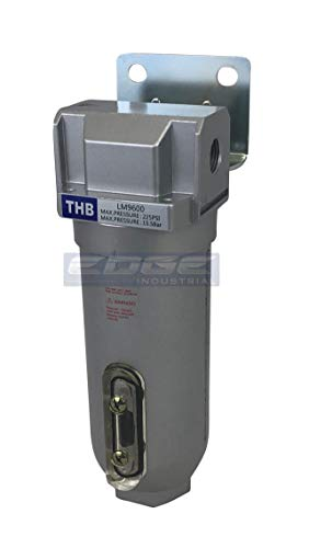 """EDGE INDUSTRIAL HEAVY DUTY IN LINE DESICCANT AIR DRYER WITH METAL BOWL, FOR COMPRESSED AIR, DRY AIR FOR PNEUMATIC TOOLS (3/4"""" NPT)"""