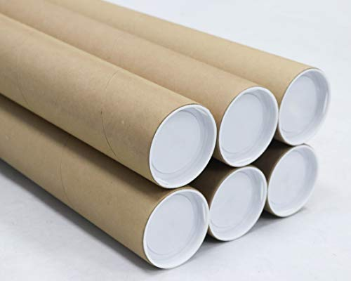 3 inch x 18 inch, Mailing Tubes with Caps (6 Pack) | MagicWater Supply