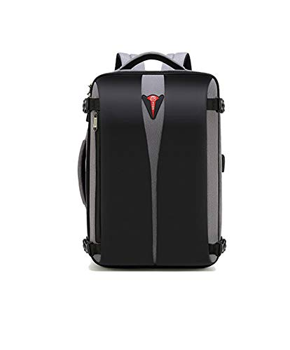 Business Backpacks, Multifunctional Travel Laptop Bag, Travel Laptop Backpack with Anti-Theft Lock TSA USB Charging Port Water Resistant, gris, One Size