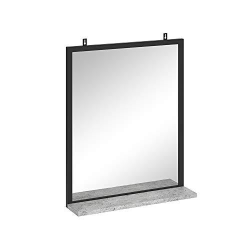 Vicco Badspiegel Fyrk Badezimmerspiegel mit Ablage Wandspiegel für Badezimmer (Beton)