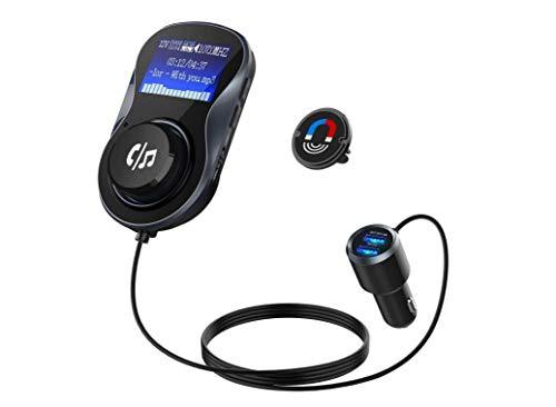 Bluetooth Transmetteur FM Dual USB Chargeur De Voiture Radio Transmetteur 1,4 Inch Voiture MP3 Player Adaptateur Radio Avec Des Appels Mains Libres Pour Iphone, Ipad, Android