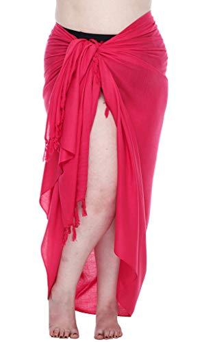 SHU-SHI - Pareo de Playa para Mujer - Diseños Lisos con Pasador de Coco - Tallas Grandes