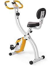 Ultrasport, F-Bike, hometrainer, lcd-display, inklapbare hometrainer, opt. Met rugleuning, verstelbare weerstandsniveaus, met polssensoren, opvouwbare fietstrainer, voor sporters en senioren