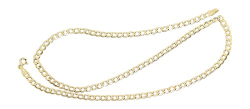 Hobra-Gold 60 cm pantserketting ketting goud 585 halsketting 3,9 mm breed gouden ketting 14 karaat