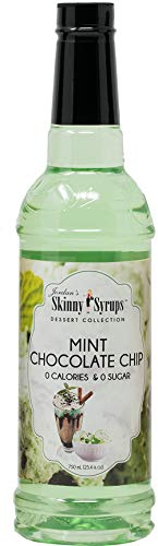 Jordan Skinny Syrups |  Sugar Free Mint Chocolate Chip Syrup | Healthy Flavors with 0 Calories 0 Sugar 0 Carbs | 254 Fl Oz Bottle