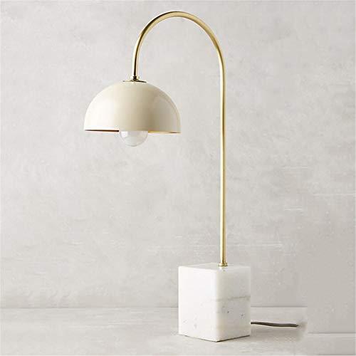 Marmeren bedlampje, materiaal: smeedijzer, lampenkap marmer, E27, universeel lezen, studeerkamer, slaapkamer, nachtkastje, bureaulamp