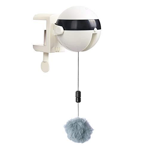 Wowlela Interaktives Katzenspielzeug, Katzen-Teaser-Spielzeug Yo-Yo-Hebeball, automatisches Hebe-Katzenspielzeug, Spielzeug mit elektrischem Flattern für Katzen, lustiges Katzenball-Haustierspielzeug