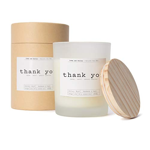 Lumaland Luma Lab Candela Profumata Momenti Speciali - Thank You - 100% Cera Vegana a Base di Soia - Elegante ed Sostenibile Candela Profumata per la Vostra Casa.