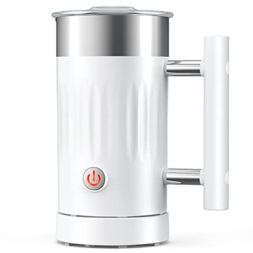 Milchaufschäumer, 5 in 1 elektrischer Magnet-Milchaufschäumer und Heißschokoladen-Maschine aus Edelstahl, automatischer Heiß-Kaltmilch-Dämpfer für Kaffee, heiße Schokolade, Milchschäumer(150ml/300ml)