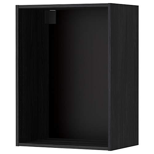 METOD väggskåp ram 60 x 80 cm träeffekt svart