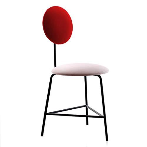 Chaise De Salle à Manger en MéTal Nordique Simple Chaise De Loisirs Chaise De Maquillage Chaise D'Ordinateur Chaise De Salle à Manger Chaise -3 Couleur en Option
