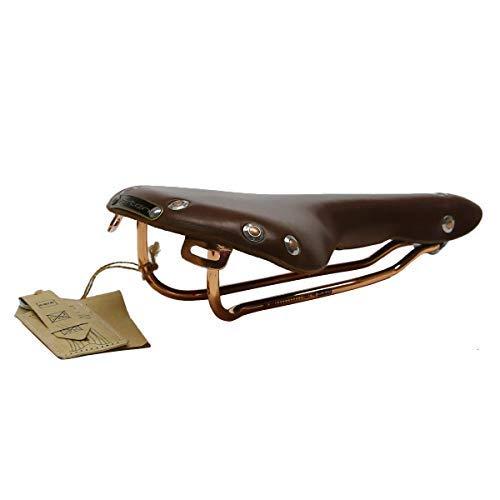 TentHome Vintage Fahrradsattel Leder Sattel Fahrrad Rennrad Fahrradsitz Braun