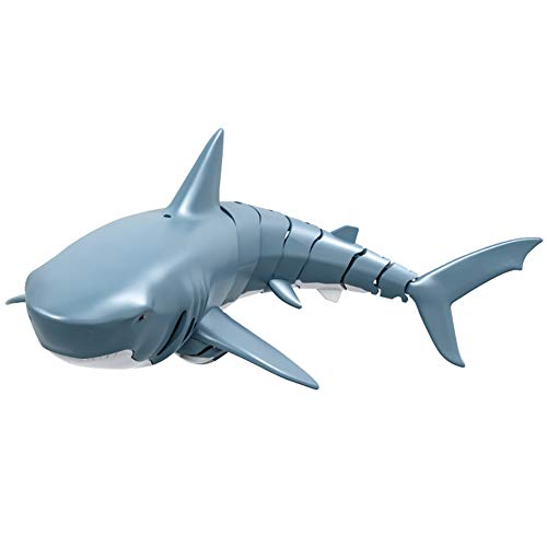 Acutty Mini RC Fish, Remote Control Toy Electric RC Shark Swim in Water Boat Ships Submarine Swim in Water Pool Bathtub Kids Electric Toy for Kids Gift 2.4GHz 4 Way Operation