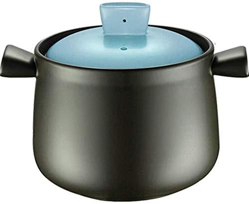 XY-M Casserole Pot Stef Stew Pot Casserole Casserole Clay Pot para cocinar - Dieta Deliciosa Capacidad Saludable y Duradera 3 5L Capacidad 3.5L_Blau