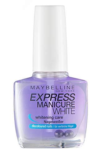 Maybelline New York Nagellack, Aufhellend, Express Maniure White Nagelweißer, 10 ml