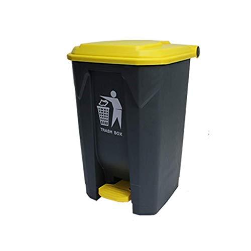 Externer Abfall Großer Abfalleimer Mülleimer Küche Küche Trash Can Garden Trash Can Gemeinschaft Trash Can Industrial Waste (Size : Yellow-84cm)