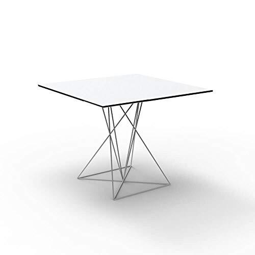 Vondom Faz table avec surface HPL 80x80 cm blanche