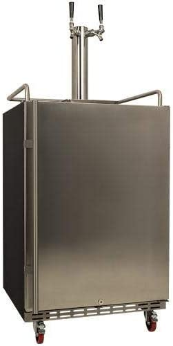 EdgeStar Full Size Dual Tap San Francisco Mall Kegerator Steel Free Shipping New Built-In Stainless -
