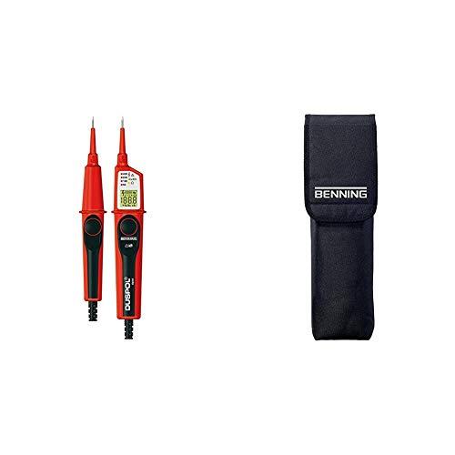 Benning Duspol digitaler Spannungs- und Durchgangsprüfer, 050263 mit Benning-Tasche Schutzbeutel für Spannungsprüfer