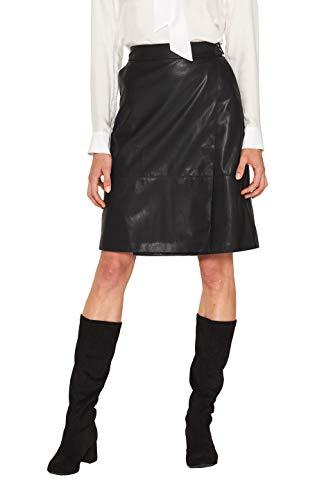 ESPRIT 109eo1d017 Gonna, Nero (Black 001), 48 (Taglia Unica: 42) Donna